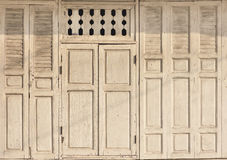 Vintage wooden door and window frame background surface Royalty Free Stock Photography
