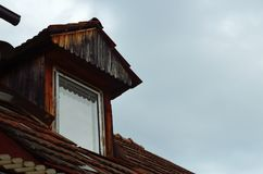 Vintage wooden dormer window Royalty Free Stock Image