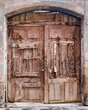 Vintage wooden double door Royalty Free Stock Photography