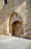 Old Vintage wooden double door in Old Jaffa, Israel Royalty Free Stock Photo
