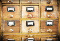 Vintage wooden drawer Royalty Free Stock Images