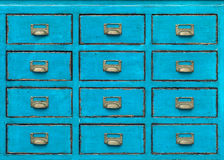 Vintage wooden drawer Stock Images
