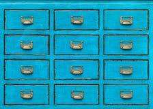 Vintage wooden drawer Stock Images