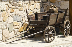 Vintage Wooden Dray Royalty Free Stock Image