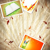Vintage wooden education background Royalty Free Stock Image