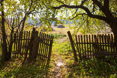 Vintage wooden fence Royalty Free Stock Image