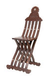 Vintage wooden folding chair. Isolated Royalty Free Stock Photo