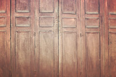 Vintage wooden folding door, retro style image Royalty Free Stock Photos