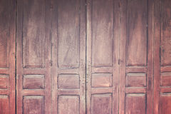 Vintage wooden folding door, retro style image Royalty Free Stock Image
