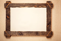 Vintage wooden frame Stock Photos