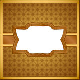 Vintage wooden frame Royalty Free Stock Image