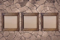 Vintage wooden frame stock photography