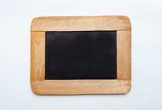 Vintage  Wooden Frame Blank Slate,. Old vintage  wooden frame blank slate  on white background Stock Photos