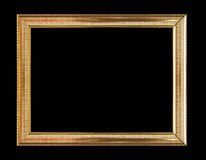 Vintage wooden frame isolated on black background. Vintage wooden frame isolated on black  background Royalty Free Stock Image