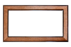 Vintage wooden frame isolated on white background Royalty Free Stock Photography