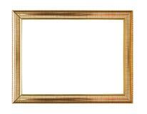 Vintage wooden frame isolated on white background. Stock Photo