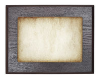 Vintage wooden frame on old paper. Vector Royalty Free Stock Photography