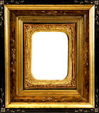 Vintage wooden Frame with ornate insert Stock Image