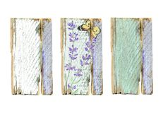 Vintage Wooden Frames with Lavender Flowers