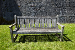 Vintage wooden garden bench Stock Photography