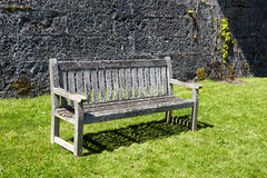 Vintage wooden garden bench Royalty Free Stock Image