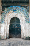 Vintage wooden gate of ancient mosque Royalty Free Stock Photography