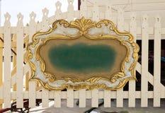Vintage wooden golden frame Royalty Free Stock Images