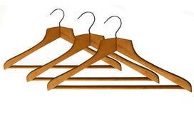 Vintage wooden hangers Stock Photography