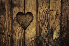 Vintage Wooden Heart royalty free stock image