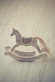 Vintage wooden horse toy Royalty Free Stock Images