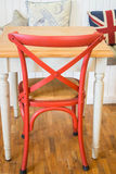 Vintage wooden kitchen chair and table Royalty Free Stock Photo