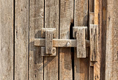 Vintage Wooden Latch On Building Stock Image
