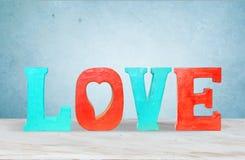 Vintage wooden letters love Stock Images