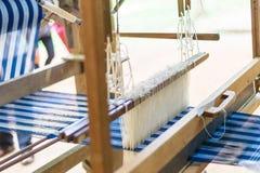 Vintage wooden loom Royalty Free Stock Image