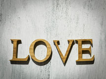 Vintage wooden love note royalty free stock images