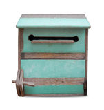 Vintage wooden mailbox. Royalty Free Stock Images