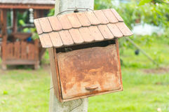 Vintage Wooden Mailbox Royalty Free Stock Photography