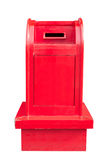 Vintage Wooden Mailbox isolated on white with clipping path Stock Images