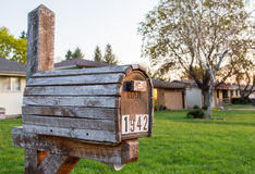 Vintage Wooden Mailbox Royalty Free Stock Image