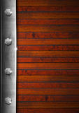 Vintage Wooden and Metal Background Stock Photos