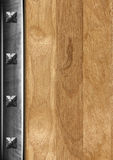 Vintage Wooden and Metal Background Royalty Free Stock Photos