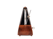 Vintage wooden metronome Royalty Free Stock Images