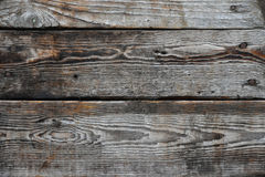 Vintage wooden panel with horizontal planks and gaps Royalty Free Stock Photo