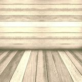 Vintage wooden panel wall and floor interior background. Royalty Free Stock Images