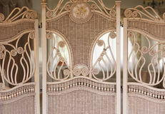 Vintage wooden partition in the Hall Stock Photos