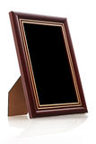 Vintage wooden photo frame Stock Image