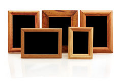 Vintage wooden photo frames Stock Photography