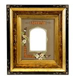 Vintage wooden picture frame Stock Images
