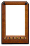 Vintage Wooden Picture Frame. Isolated on white. XXL Stock Photos