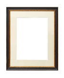 Vintage wooden picture frame with cardboard mat Stock Images